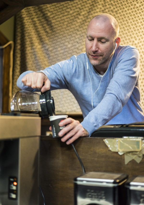 Pouring another coffee myself. Photo: Lennart Ootes